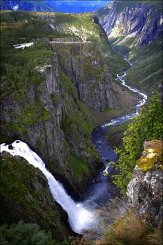 A waterfall in West side of Norway.