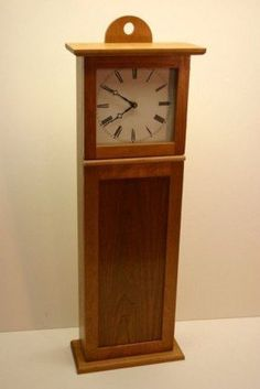 Shaker Wall Clock in Cherry Wooden Clock, Old Wall, Shaker, Woodworking, Craftsman Clocks, Craftsman Style, Wall, Vintage Clock, Shaker Style