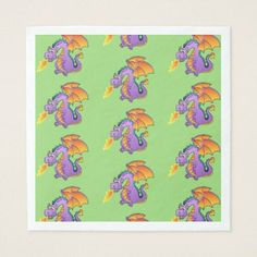 Cute pink easter birthday party egg hunt napkin dragon paper napkins negle Choice Image