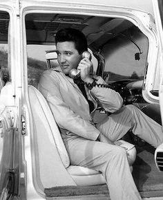 Elvis on his mobile phone :)