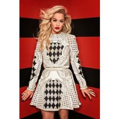 FIRST PICTURES Rita Ora steals the limelight in official The Voice UK snaps... LOVE that dress. I'd wear it in reverse, white on black.