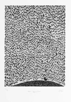 Gorrión mojado corte de linóleo por melaniewickham en Etsy
