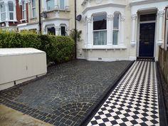 front garden drive way granite setts streatham london