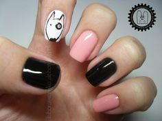 Nail Art - Bull Terrier ~Le Thor~ + TUTORIAL