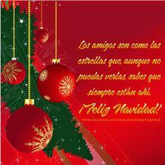 Mensajes de Navidad para Amigos   Tarjetas de Navidad Merry Christmas Images, Christmas Wishes, Christmas Time, Christmas Bulbs, Happy New Year Greetings, Lilac Wedding, Christmas Cards, Holiday Decor, Holidays