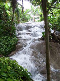 Hidden Falls of Ocho Rios, Jamaica.