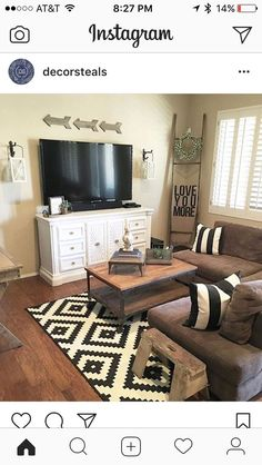 Get inspired with living room ideas and photos for your home refresh or remodel. Wayfair offers thousands of design ideas for every room in every style. New Living Room, Home And Living, Living Room Decor, Living Room Sectional, Small Living, Family Room Design, Cozy House, Apartment Living, Apartment Furniture