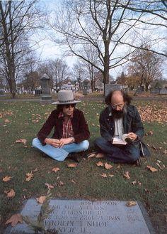Bob Dylan & Allen Ginsberg visit Jack Kerouac's grave- 1974