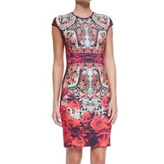 Clover canyon rose matador cap sleeve dress Worn twice. Clover Canyon Dresses