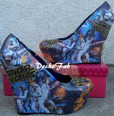 Wedge Antilles Wouldn't Wear These Star Wars Wedge Heels, But You Should Star Wars Comics, Star Wars Love, Star War 3, Death Star, Obi Wan, Cute Shoes, Me Too Shoes, Awesome Shoes, Geeks