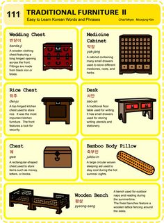 111 Learn Korean Hangul Traditional Furniture 2