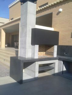 See related links to what you are looking for. Outdoor Rooms, Outdoor Living, Design Barbecue, Parrilla Exterior, Outdoor Barbeque, Pergola, Brick Bbq, Dirty Kitchen, Beton Design