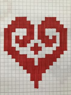 Graph Paper Art, Art Drawings Sketches, Fuse Bead Patterns, Perler Patterns, Beading Patterns, Cross Stitch Art, Cross Stitch Designs, Cross Stitch Patterns, Drawing Tips