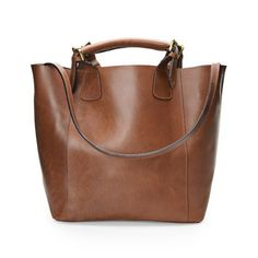 Chocolate Leather Tote, £75, Next