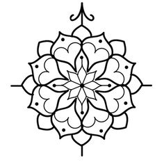 lotus Silhouette | Lotus Flower Mandala Outline Best outline mandala tattoo