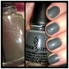@China Glaze - Immortal. Look at that shimmer on the left! #nails #nailpolish #manicure