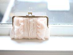 Flutter Clutch : Blush Silk