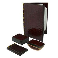 Hermes Crocodile Skin Desk Set Designed By Paul Dupre-Lafon