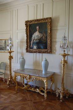 Apartment of M.me Pompadour Madame Pompadour, Chateau Versailles, Palace Of Versailles, Classic Interior, Home Interior, Marie Antoinette, Paris Appartment, Luis Xiv, Fireworks Design