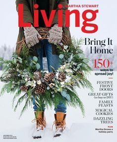 Martha Stewart Living Magazine December 1st, 2017 Issue Cover