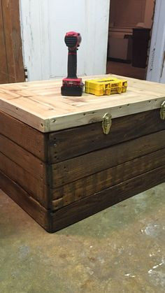 Scrapwood homemade trunk