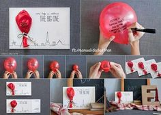 DIY: letter - card with a balloon