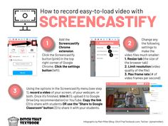 how to record easy to load video with screencastify Teaching Technology, Educational Technology, Technology Lessons, Medical Technology, Energy Technology, Technology Gadgets, Teaching Tips, Learning Resources, Instructional Technology