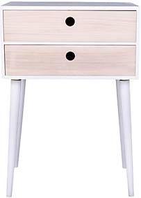 Noční stolek ze dřeva pavlovnie s bílým rámem House Nordic Rimini Nightstand, Stool, Table, House, Furniture, Home Decor, Decoration Home, Home, Room Decor