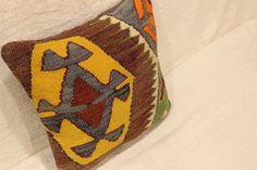 Kilim Pillow Cover Anamur Kilim Free by turkishkilimcenter on Etsy