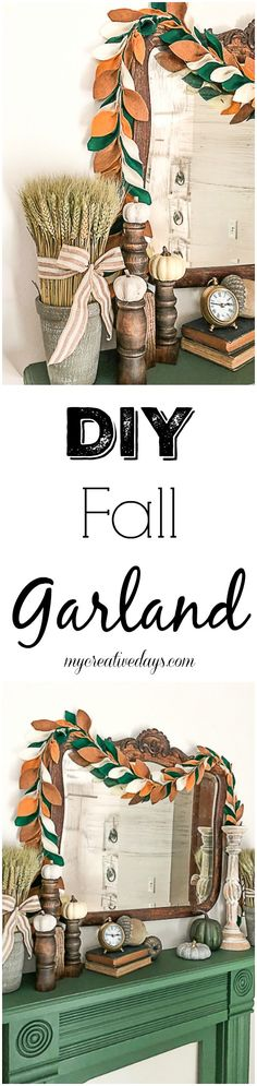 If you love fall and are looking for new ways to decorate for it on the cheap, click over to find this video tutorial on how to make a beautiful fall garland to welcome the season. Crafts For Teens To Make, Crafts To Sell, Diy And Crafts, Fall Garland, Spring Crafts, Autumn Crafts, Fall Diy, Fall Home Decor, Decor Crafts