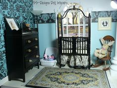 Barbie Dollhouse Nursery by SS-Designs Doll Interiors, via Flickr