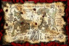 RLYEH MAP SCROLLS cthulhu larp necronomicon lovecraft rpg monsters cosplay