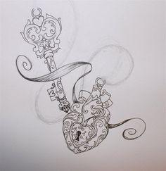 Lock and key tattoo idea