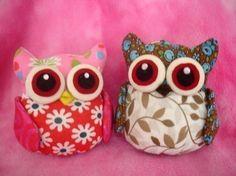 PDF Pattern to make these cute OWL pincushion/keychain   $7.50