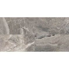 Daltile Marble View Marble Storm Polished 12 in. x 24 in. Color Body Porcelain Floor and Wall Tile sq. / - The Home Depot Dal Tile, Stone Tiles, Edge Design, Porcelain Tile, Tile Floor, Flooring, Wall, Color Marble, Large Format
