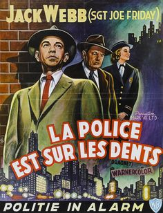 Dragnet (1954) French poster