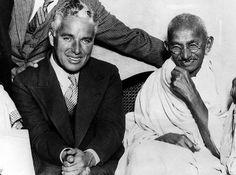 Charles Chaplin y Ghandi, Londres, 1931