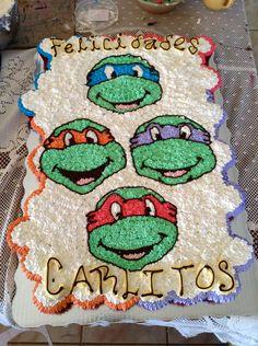 """Pasteles de cupcakes """"TORTUGAS NINJA"""""""