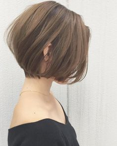 Pin on ヘアスタイル✂ Japanese Short Hair, Asian Short Hair, Short Thin Hair, Girl Short Hair, Short Hair Cuts, Bob Haircut For Fine Hair, Shot Hair Styles, Queen Hair, Hair Looks