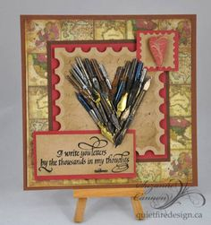 I Write You Letters by the Thousands by quietfire - Cards and Paper Crafts at Splitcoaststampers Calligraphy Nibs, Pen Nib, Postage Stamps, Letter Boxes, Old Things, Paper Crafts, Valentines, Letters, Ink