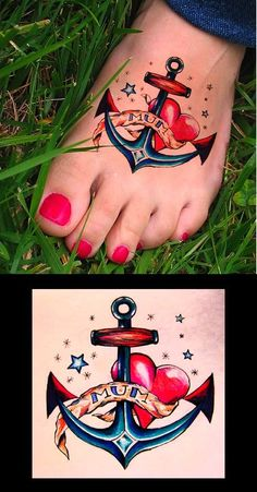 girly #anchor #tattoo