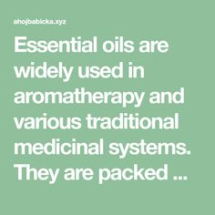 Essential oils are widely used in aromatherapy and various traditional medicinal systems. They are packed with a large number of health benefits. What you probably didn't know is that various essen…