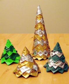Duct Tape Cone Trees Tutorial
