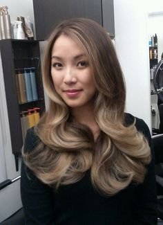 Balayage Graduated Ash Ombre on Asian hair by Guy Tang. | Yelp