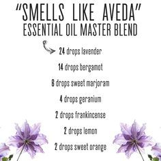 Smells Like Aveda (Safe EO Recipes Group)