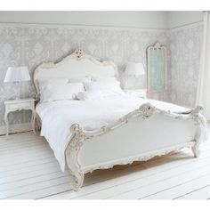 Provencal Sassy White French Bed #Frenchbedroomcompany #RomanticBedrooms @FrenchBedrooms #Sale