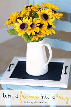 Turn a frame into a cute tray, for serving or decor!! A quick and fun project!!! #homedecor #simplykierste (simplykierste.com)