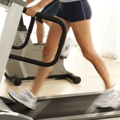 Get your cardio on with a hilly treadmill hike.