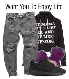 """""""Enjoy Life~~"""" by be-you-tiful-flower ❤ liked on Polyvore featuring New Look and NIKE"""