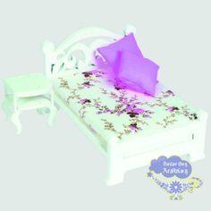 cama casal com criado mudo linha provencal